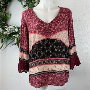 Maurices Bohemian long sleeve top